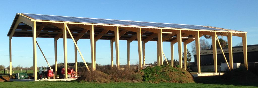 Séchoir de fourrage en Mayenne en construction