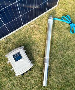 panneau solaire avec sa pompe immergée