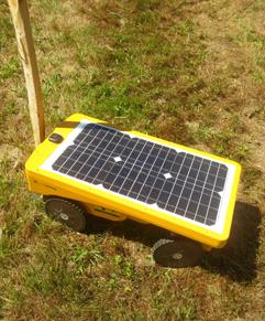 robot tondeur pour l'entretien des sols enherbés