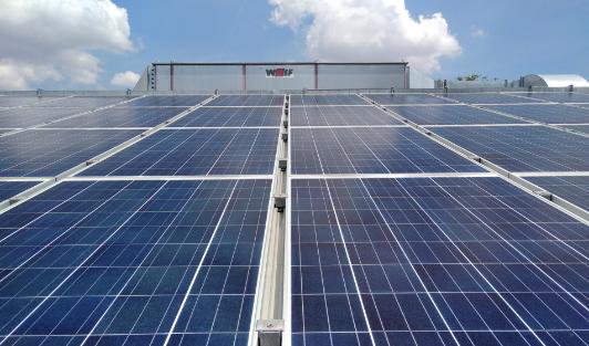 centrale à traitement d'air toiture thermovoltaïque