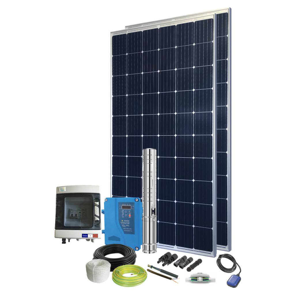 Kit pompe solaire immergée 300W pour abreuvement