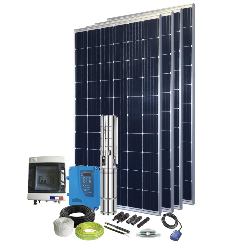 Kit pompe solaire immergée 600W pour abreuvement