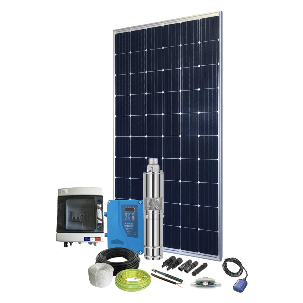 Kit pompe solaire immergée 80W pour abreuvement